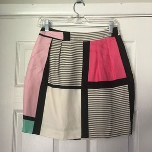 Kate Spade color block skirt